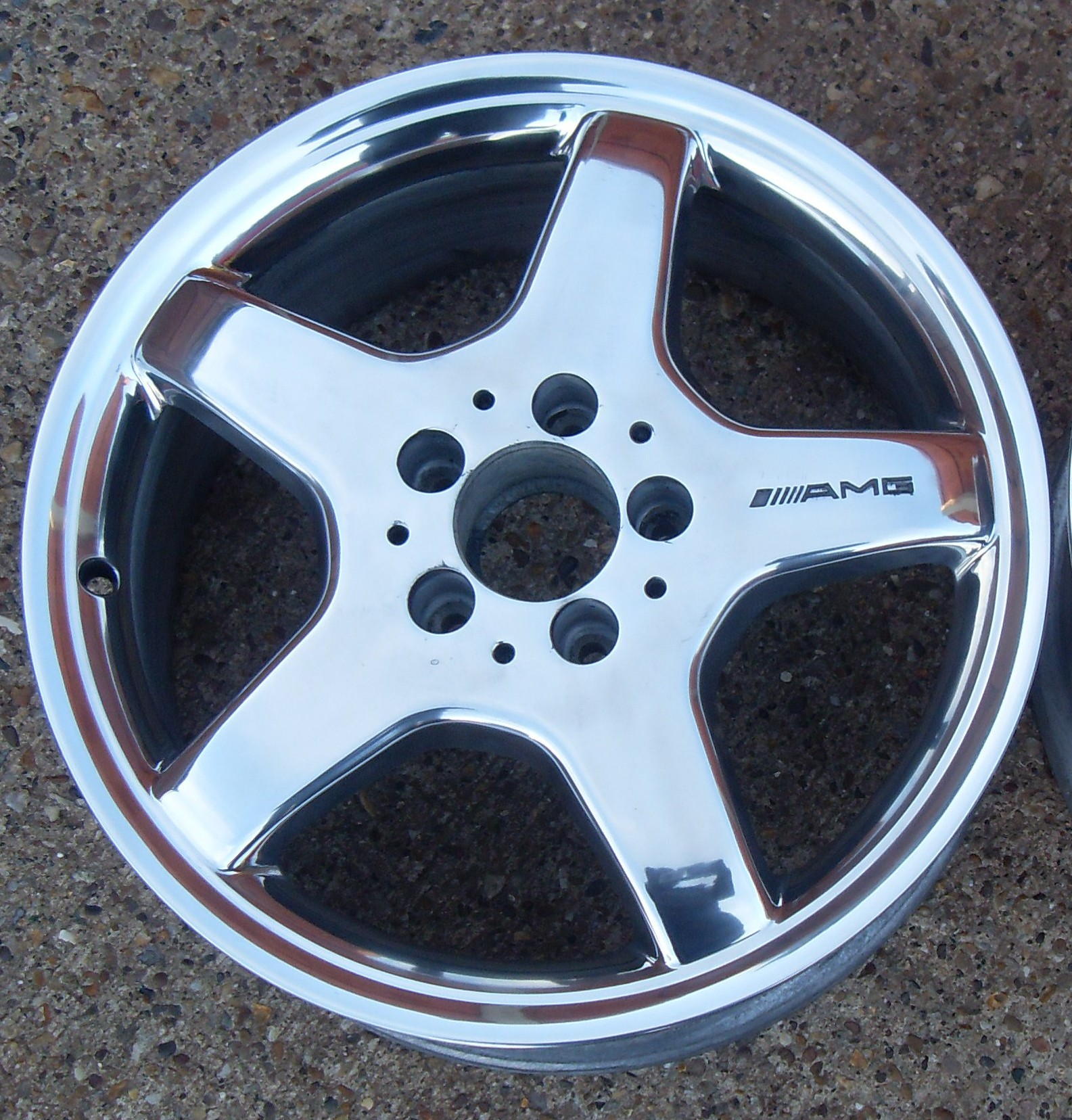 Can an amg wheel be polished to a shiny aluminum finish for Mercedes benz 17 amg rims