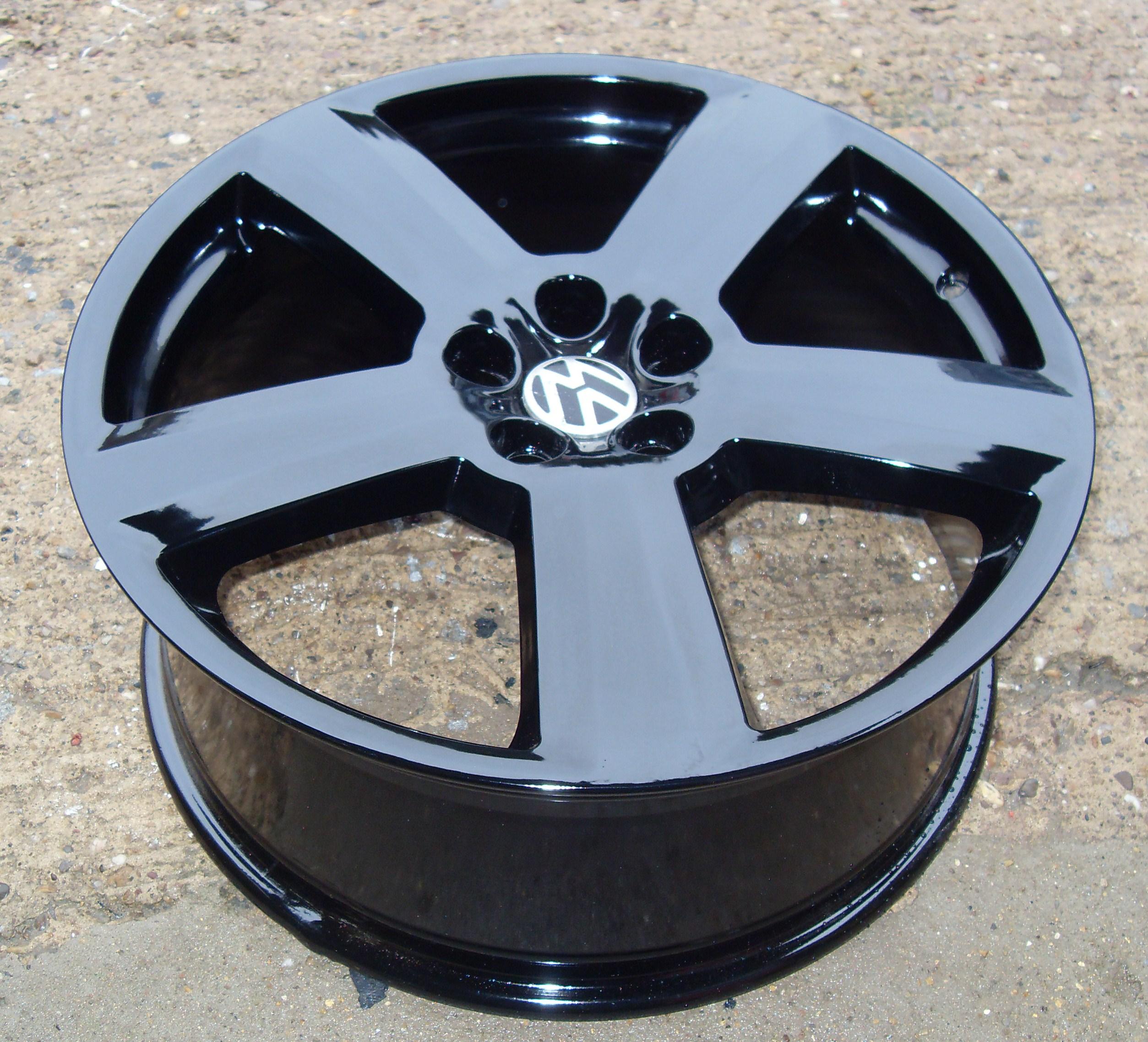 Audi RS6 replica wheels powder coated black for VW Passat ...