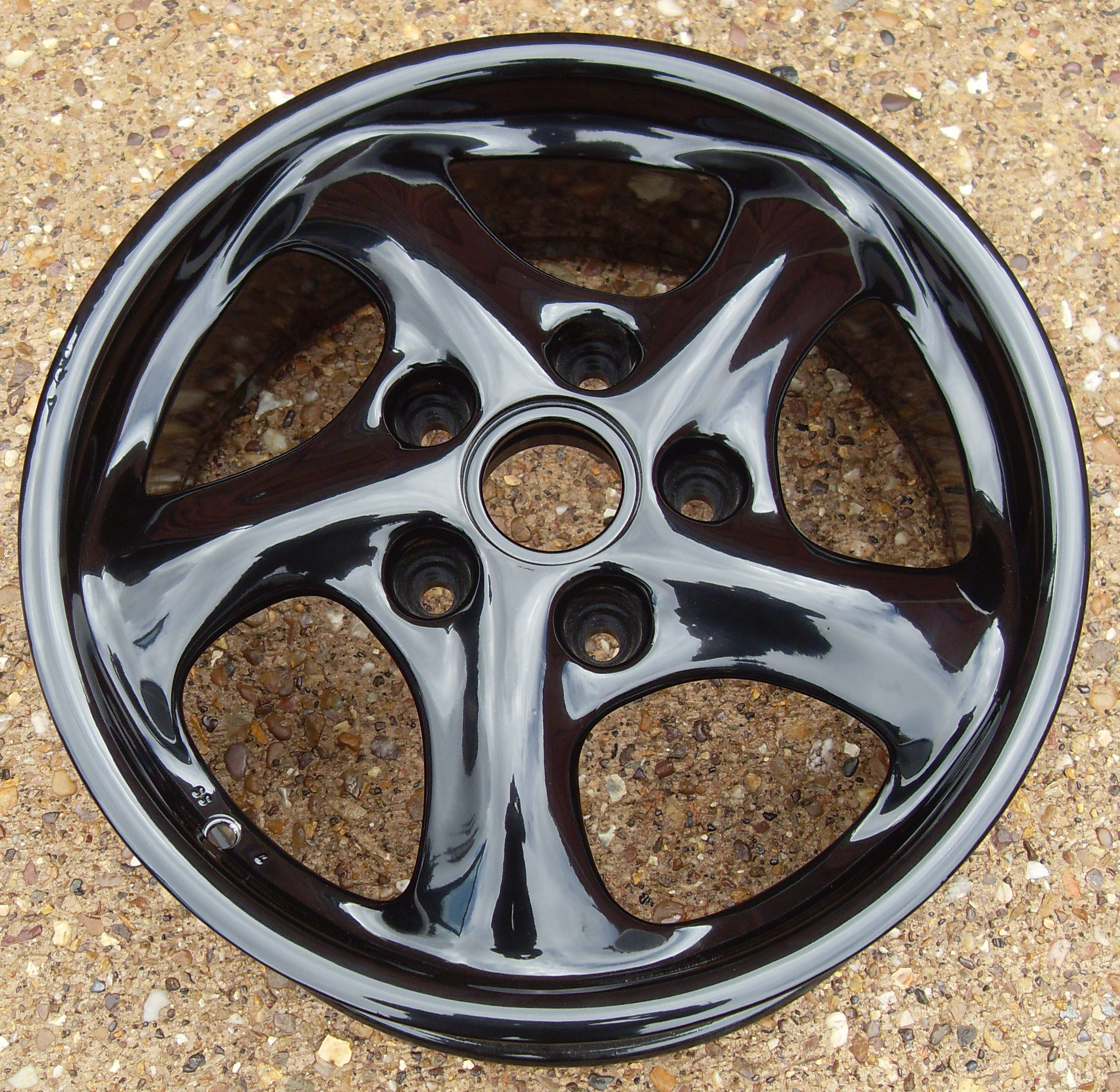 Porsche 911 Wheels Refurbished In Gloss Black For Sale
