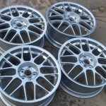 Chrome powder coated BBS RC alloy wheels by pureklas
